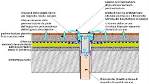 esaminare i sistema di raccolta delle acque